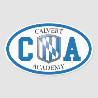 Calvert Academy Oval Stickers (Set of Four)