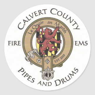 Calvert County Pipes and Drums Logo Sticker
