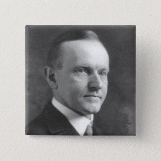 Calvin Coolidge 2 Inch Square Button