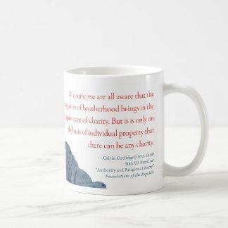 "Calvin Coolidge Mug #14 ""Charity"""