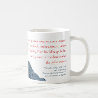 "Calvin Coolidge Mug #24 ""Taxes"""