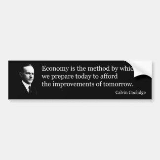 Calvin Coolidge on economy Bumper Sticker