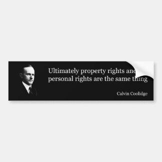 Calvin Coolidge on rights Bumper Sticker