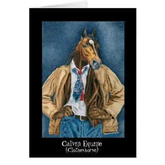Calvin Equine (Clotheshorse) Card
