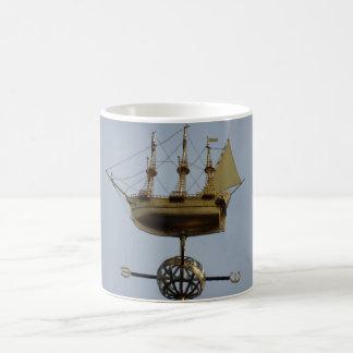 Calyon Compass Rose White Coffee Mug
