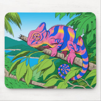 calypso chameleon mouse pad