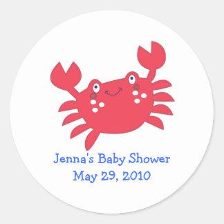 Calypso Under the Sea CRAB Favor Sticker