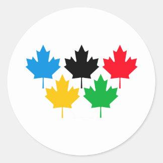 Camada Maple Leaf Classic Round Sticker