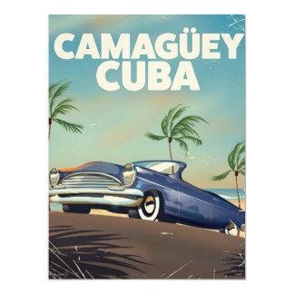 Camagüey Cuban vintage travel poster Card