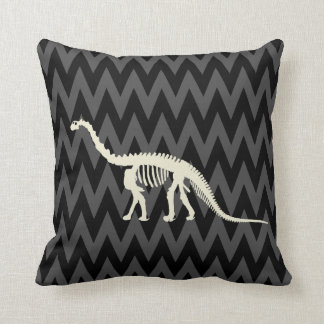 camarasaurus skeleton throw pillow