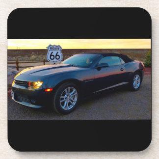 Camaro on Route 66 Drink Coaster