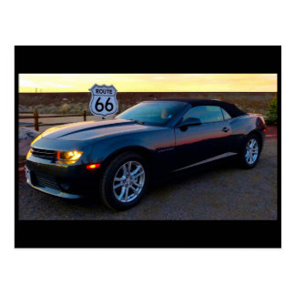 Camaro on Route 66 Postcard