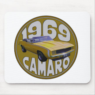 camaro Super Sport 1969 Yellow Mouse Pad