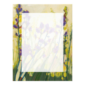 Camas in Bloom Floral Stationery 8 1/2 x 11