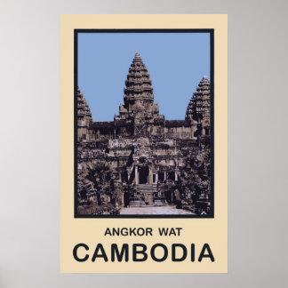 Cambodia Angkor Wat Poster