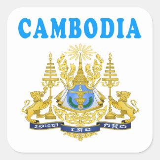 Cambodia Coat Of Arms Designs Square Sticker