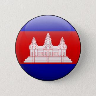 Cambodia Flag 2 Inch Round Button