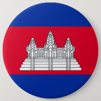 Cambodia Flag 6 Inch Round Button
