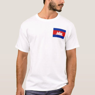 Cambodia Flag and Map T-Shirt