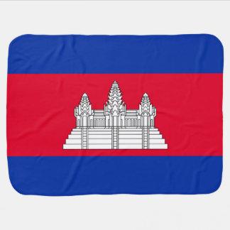 Cambodia Flag Baby Blanket