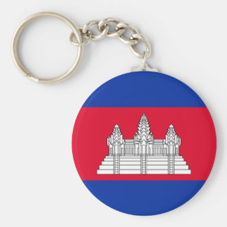 Cambodia Flag Basic Round Button Keychain