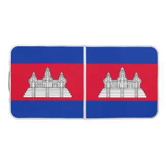 Cambodia Flag Beer Pong Table