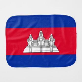 Cambodia Flag Burp Cloth