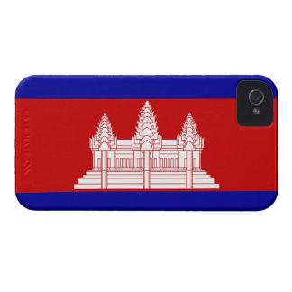 Cambodia Flag; Cambodian iPhone 4 Case-Mate Case