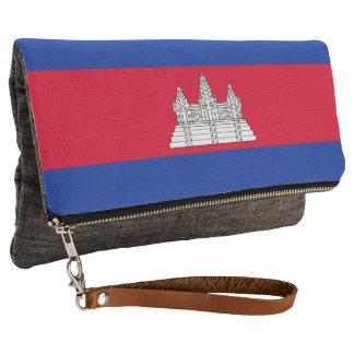 Cambodia Flag Clutch