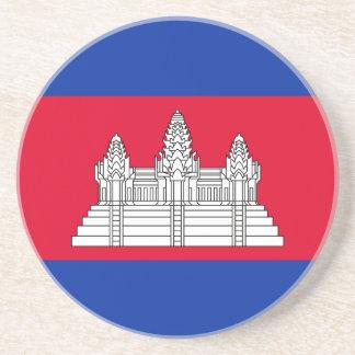 Cambodia Flag Coaster
