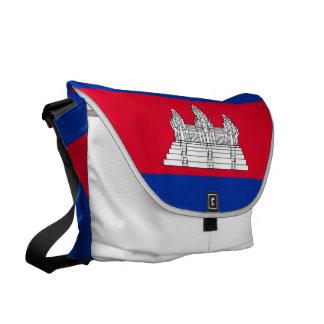 Cambodia Flag Courier Bag