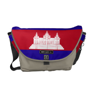 Cambodia Flag Courier Bags