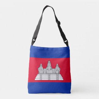 Cambodia Flag Crossbody Bag