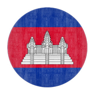 Cambodia Flag Cutting Board