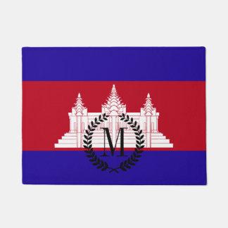 Cambodia Flag Doormat