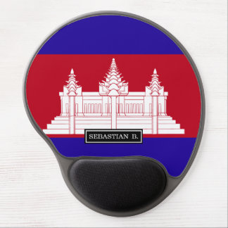Cambodia Flag Gel Mouse Pad
