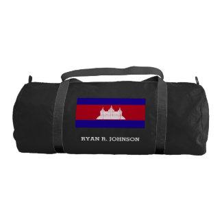 Cambodia Flag Gym Bag