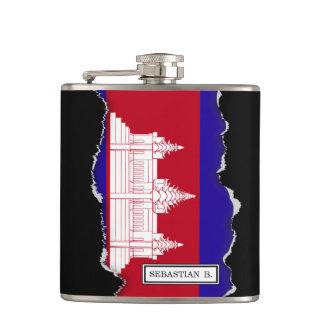 Cambodia Flag Hip Flask