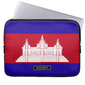 Cambodia Flag Laptop Sleeve