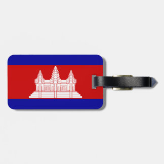 Cambodia Flag Luggage Tag