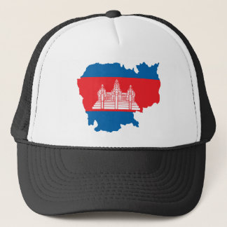 Cambodia Flag Map full size Trucker Hat