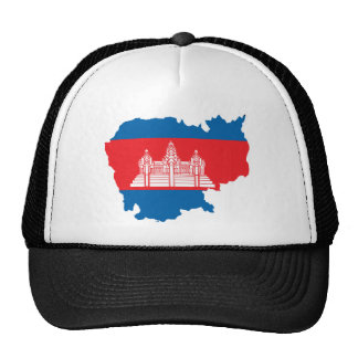 Cambodia Flag Map full size Trucker Hat