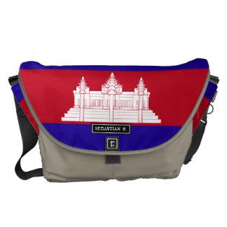 Cambodia Flag Messenger Bags
