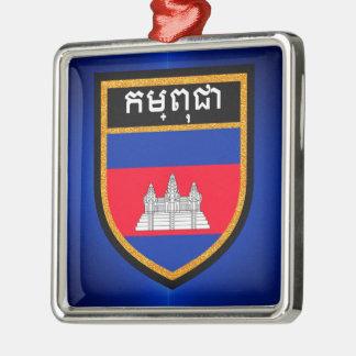 Cambodia Flag Metal Ornament