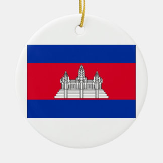 Cambodia Flag Ornaments