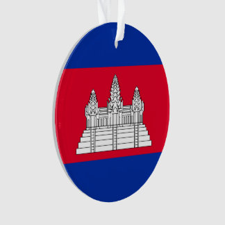 Cambodia Flag Ornament
