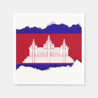 Cambodia Flag Paper Napkin