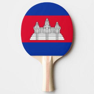Cambodia Flag Ping Pong Paddle