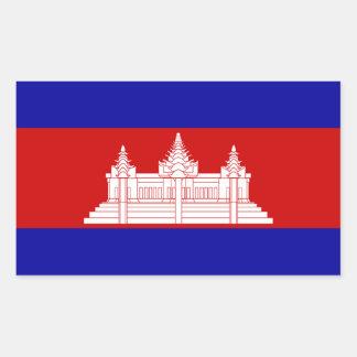 Cambodia Flag Rectangle Sticker