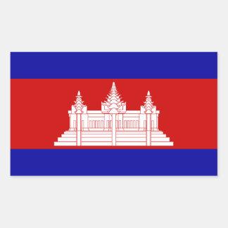 Cambodia Flag Sticker